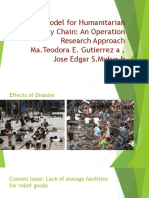 A Model for Humanitarian Supply Chain an Operation Research Approach