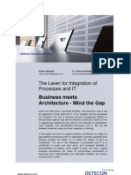 The Lever for Integration of Processes and IT. Business meets Architecture - Mind the Gap (Detecon Executive Briefing)