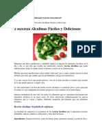 Dietaalcalina-tres Recetas Alcalinas