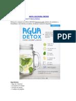 Hábitos-Agua Alcalina Detox