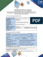 Guia de actividades y rúbrica de evaluación - Fase 2 - Investigar el comportamiento de los productos cárnicos