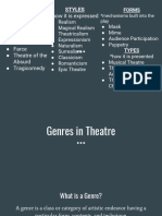 genres from understanding theatre