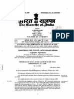 The TRAI (Amendment) Act 2000