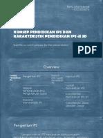 Konsep Pendidikan Ips Dan Karakteristik Pendidikan Ips Di SD
