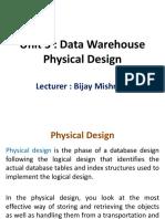 Unit+3+-+Data+Warehouse+Physical+Design