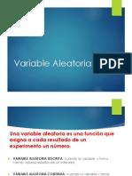 Variable Aleatoria Distribuciones