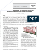 Efect of Vierendeel Panel Width and Vertical Truss Spacing Ratio in Staggered Truss Framing System Under Earthquake Loads