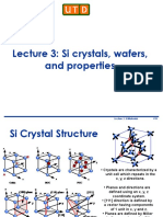 Lecture 3 - Si Materials