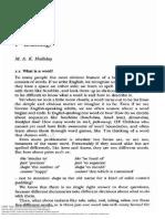 Halliday Corpus Linguistics Lexicology