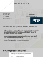 A Study of WTO Trade & Dispute