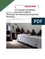Presenta El Consejo Ciudadano Para El Desarrollo Cultural Municipal de Huamantla Proyectos Finalistas