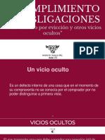 Incumplimiento de Las Obligaciones (Vicios ocultos y saneamiento)