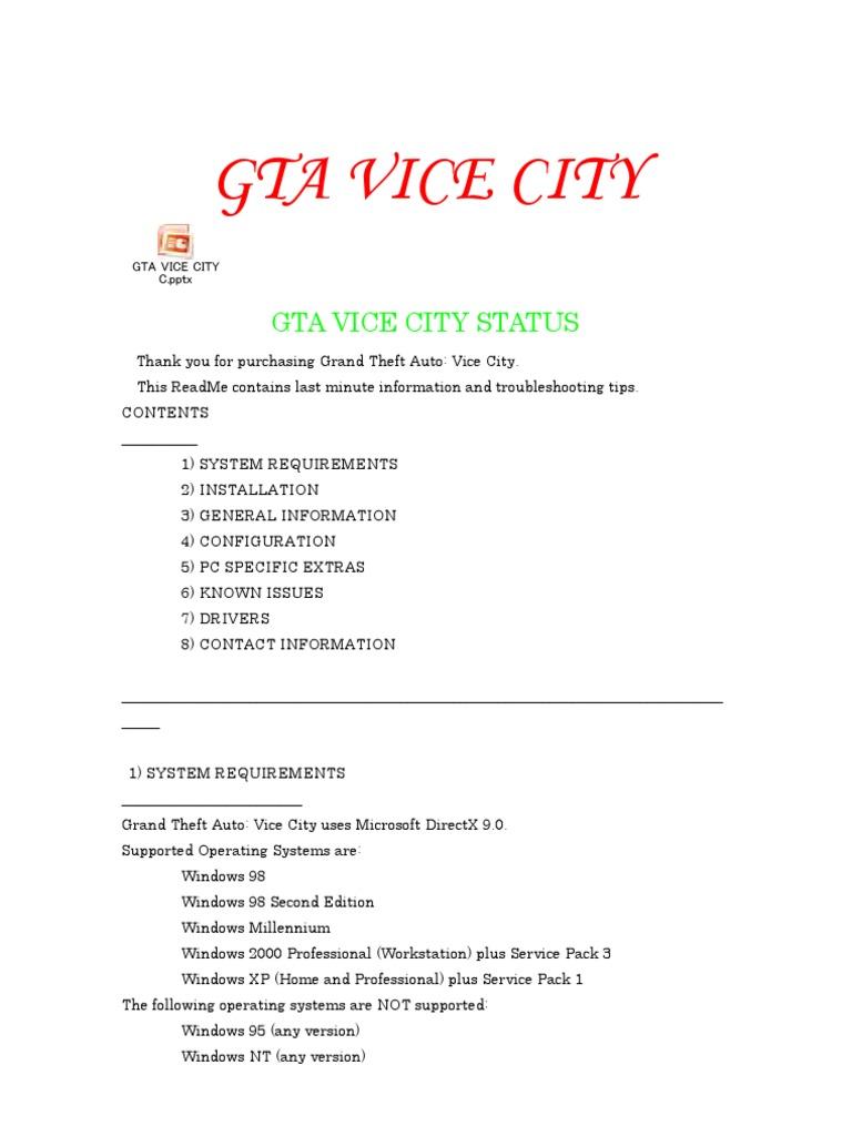 GTA Vice City Everything | Windows 2000 | Microsoft Windows