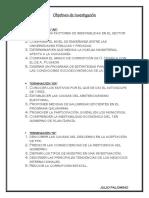 Objetivos de Investigación 1
