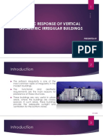 Seismic Response of Vertically Geometrical Irregular Buildings