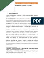 Sistema Político y Formas de Gobierno Actuales