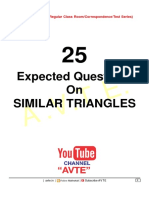 25 Expected Questions on Similar Triangles 1