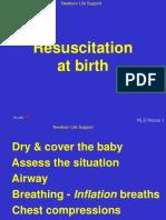 16. Resuscitation at birth