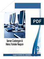 Server Cadangan Dan Menu Transfer Respon