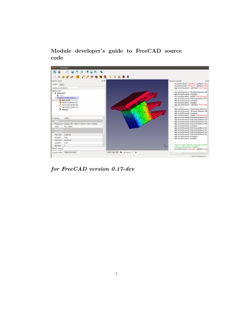 FreeCAD Mod Dev Guide 20170101 | 3 D Computer Graphics | Python