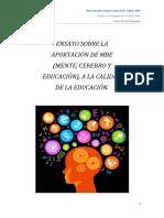 Ensayo. Bases Del Aprendizaje y Educación