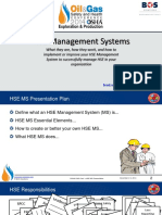 Whitaker Health, Safety and Environmental Management Systems