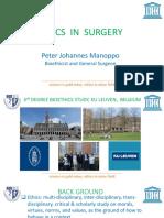1. ETHICS in SURGERY Peter Johanes Manopo
