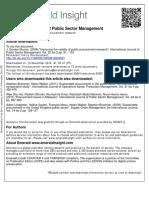 International Journal of Public Sector Management