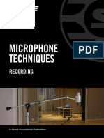 Microphone Techniques for Recording English