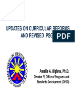 Updates on Curriculum