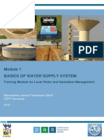 Module_1 Basics of Water Supply System