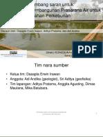 Perencanaan Pembangunan Prasarana Air Untuk Lahan Perkebunan