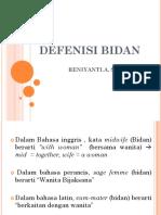 DEFENISI BIDAN
