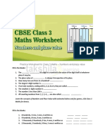 CBSE Class 3 Maths Worksheet- Numbers and Place Value