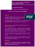 Curso Internacional Resinas Dsd Gye Ecuador 2018