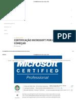 Certificação Microsoft Por Onde Começar - Dfilitto