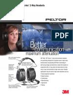Peltor Headset for Engine Room