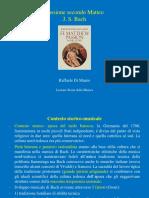 Paper Bach Passione Sc Matteo