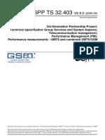 3GPP-Performance Measurements - UMTS and Combined UMTSGSM