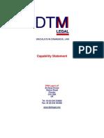 DTM Capability Statement