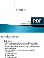 1. Introduction to Civics Education