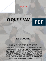 Lição 01 - o Que é Família
