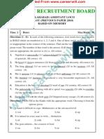 RRB ALP Allahabad [Www.careerwill.com]