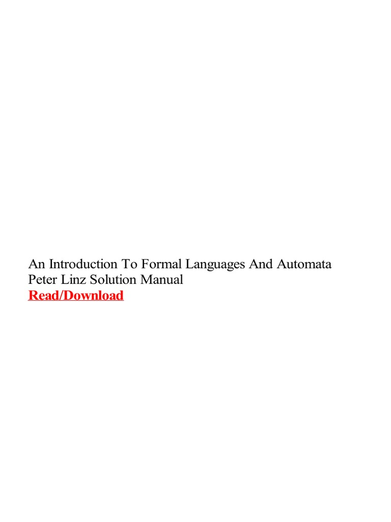 An introduction to formal languages and automata peter linz solution an introduction to formal languages and automata peter linz solution manual automata theory portable document format fandeluxe Gallery