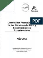 Clasificador Presupuestario 2018