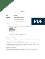 Acta No. 1 Area Sistemas