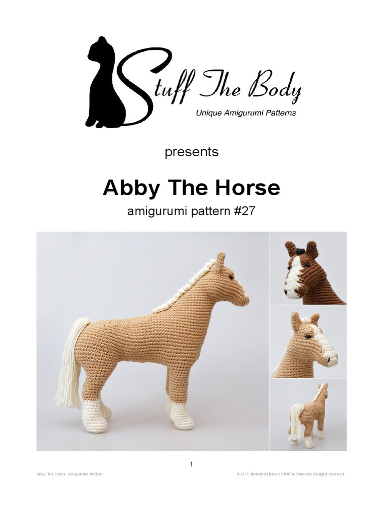 11 Crochet Horse Patterns – Amigurumi Pony Toys - A More Crafty Life   1024x768