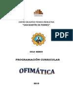 Programacion Curricular Del Curso de Ofi