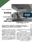 Building a Concrete Spiral Stairway