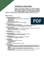Perfil Profesional Del Tecnologo Medico en Laboratorio Clinico y Anatomia Patologica
